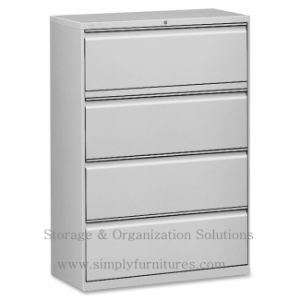 Office Metal Lateral File Cabinet 4 Drawers