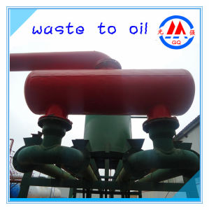 Use Green Technology to Pyrolysis Waste Tire/Plastic/Rubber Into Fuel Oil Recycling Machine