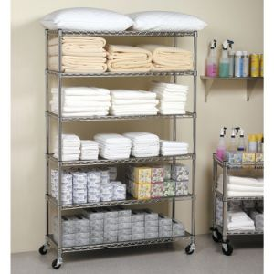 6 Tiers Mobile Metal Shelf for Storage and Office pictures & photos