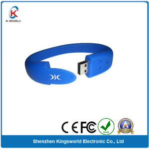 Free Logo Rubber Silicon Wristband USB Flash Drive