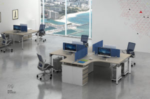 Fsc Certified Approved by SGS Modern Wooden Office Partition Workstation Office Furniture pictures & photos