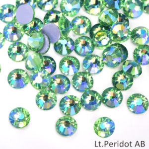 Heat Set Iron On Rhinestones Superior quality DMC 5 Available Sizes Hotfix Green Emerald Y205 Loose Hot Fix