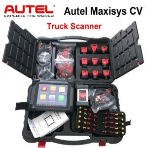 Autel Maxisys CV Heavy Duty Diagnostic Automotive Truck Scan Tool Full  System WiFi with J-2534 ECU Coding & Programming with Full Package Free  Update