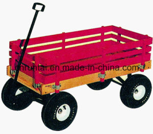 Heavy Duty Wooden Basket Pneumatic Tyre Tool Cart pictures & photos