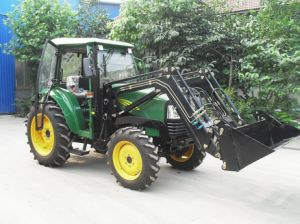 40HP/55HP Tractor with 4in1 Front End Loader, Backhoe, Slasher, Tractor Fel pictures & photos
