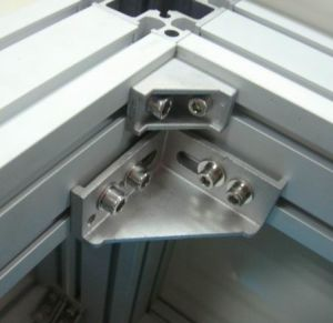 Aluminum Color Powder Coated Used for Aluminum Profile T Slot Aluminum Corner Bracket pictures & photos