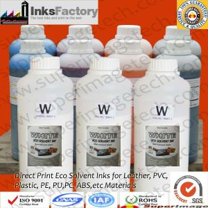 Uncoating Direct Eco Solvent Pigment Ink for Leather/PU/PC/PVC/Plastic/ABS pictures & photos