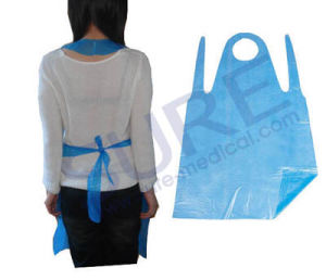 Disposable Medical PE Apron with Different Color (SR4006) pictures & photos