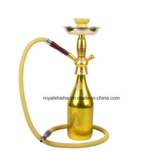 New Design Gold Wine Bottle Shisha Hookah pictures & photos