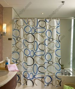Circle Pattern Shower Curtain pictures & photos