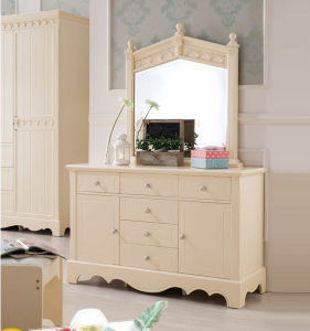 Bedroom Furniture Antique Wooden Dressing Table Designs With Mirror  (JB 8016B)
