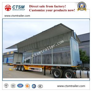Side Open/ Wing Opening Insulated Box Semi Truck Trailer