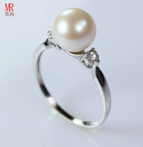 925 Sterling Silver Round Pearl Wedding Ring (ER1604) pictures & photos