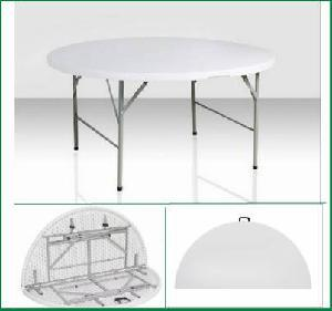6ft Round Plastic Fold-in-Half Wedding Banquet Dining Party Table pictures & photos