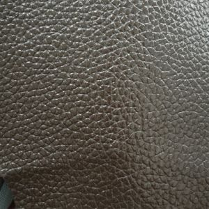 SGS Gold Certification Peng Ding Litchi Pattern PVC Artificial Leather Luggage Leather PVC Leather pictures & photos