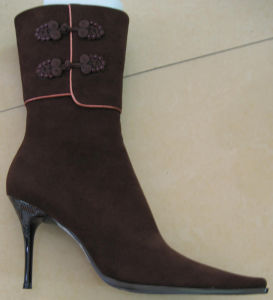 Ladies Women Middle Heel Sharp Toe Winter Boot Special Lining
