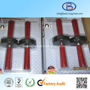 Direct Factory Original Supplier of Rubber Coated Pot Magnet Gripper Packed by Blister