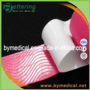 Muscle Therapeutic Kinesiology Tape 5cmx5m Pink Colour pictures & photos