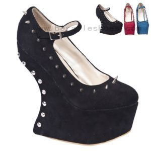 China Ladies (Women) Fashion Wedge Shoes, with Rivets Wedges Shoes (1819-2) - China Women Shoes, Lady Shoes