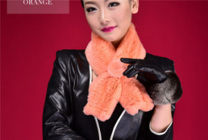 Multicolor Genuine Rabbit Fur Scarf for Winter Women