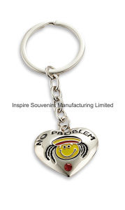 Jamaica Heart Shape Metal Keyring with Smile Mom (SK183J) pictures & photos