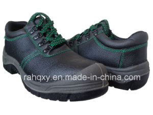 Professional Split Embossed Leather Safety Shoes (HQ01012) pictures & photos