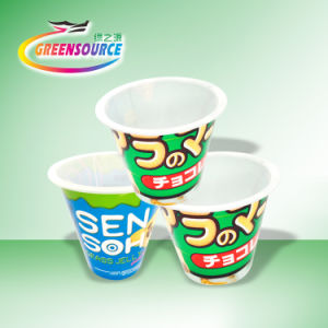 Food Grade in Mold Labeling for Yogurt Cup Container pictures & photos