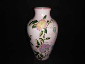 Flower Vase, Hand Painting Ornamental Porcelain Ceramic (FM0928)