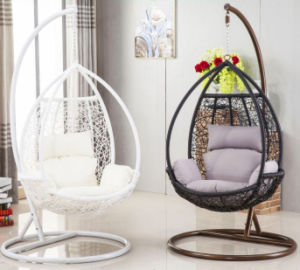 Modern Outdoor Rattan Swing Hanging Egg Basket Chair D008A