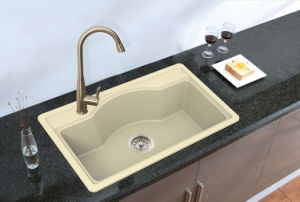 Artificial Stone Quartz Kitchen Sink Hgy002 pictures & photos