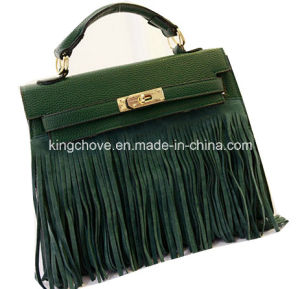 Latest Green PU with Seude Tissue Bag (KCH251)