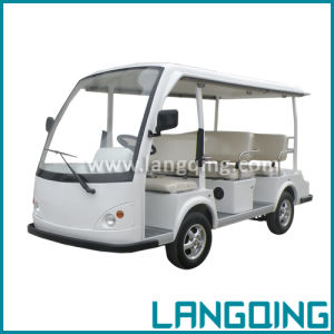 CE Electric Car Sightseeing/Shuttle/Tourist/Tour Bus 8 Seats with Gearbox