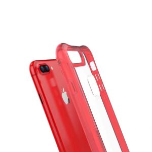 Mobile Phone China Red Defense Holder Transparent Protector Case Cover for iPhone 7 Plus 4.7 5.5 pictures & photos