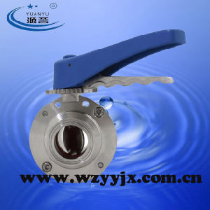Sanitary Butterfly Valve Center Suck Bolt Type pictures & photos