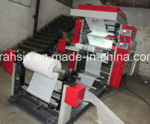 Double Colors Flexo Printer Machine for Plastic Bag Film pictures & photos
