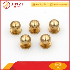 Metal Solid Brass Rivets Copper Round Head Stud Button pictures & photos