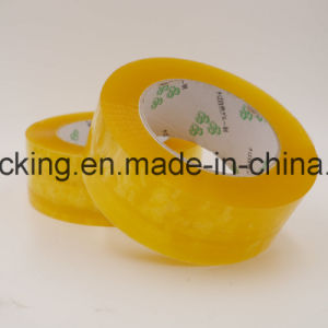 Yellowish Water Based Acrylic Adhesive Clear BOPP Packing Tapes 120rolls in a Carton pictures & photos