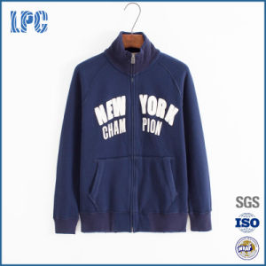 Men Custom Fitness Style Stand Collar Hooded Winter Fleece Jacket pictures & photos