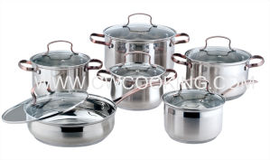 12PCS Cookware Set with Ss Wire Handle pictures & photos