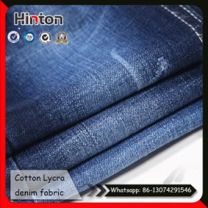 Factory Hot Sale Double Slub Denim Fabric 98% Cotton 2% Lycra pictures & photos