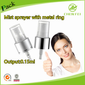 Metal Ring Closure Plastic Mist Sprayer for Bottle