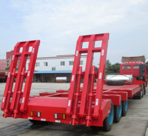 Gooseneck Flatbed Semitrailer with Ladder pictures & photos