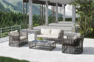 Fancy Hand Woven Rattan Outdoor Big Size Sofa with Cushions