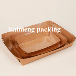 China Supply Disposable Kraft Paper Food Trays for Food Package (paper tray)