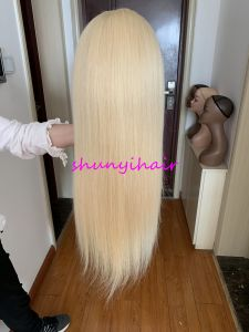 613 200% Denstity Full Lace Wig Straight Top Quality Brazilian Hair Pre Plucked with Baby Hair Swiss Lace
