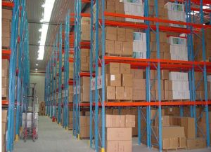 China Factory Steel Q235 Warehouse Roller Rack System pictures & photos