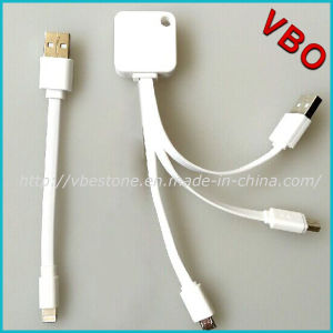 Brand New 3 in 1 Universal USB Mobile Data Charging Cable with Mfi Certified pictures & photos