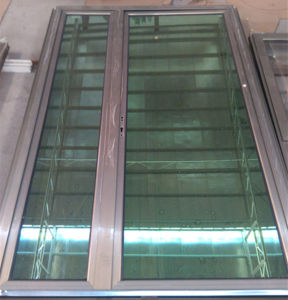 China Manufacturer Aluminum Casement Doors with Reflective Glass