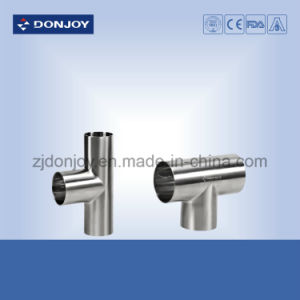Ss 304 Stainless Steel 3A Tee Sanitary Welded Pipe Fitting pictures & photos