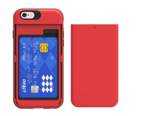 Slide Card Pocket/Slot 2 in 1 PC+TPU Armor Cell Phone Case Hard Protective Shell (XSEH-010)